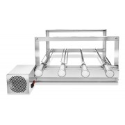 Churrasqueira Elétrica Gira Grill Inox 4 Espetos Giratórios