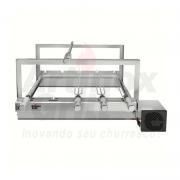Churrasqueira Elétrica Inox Regulável 5 Espetos Motor Bivolt