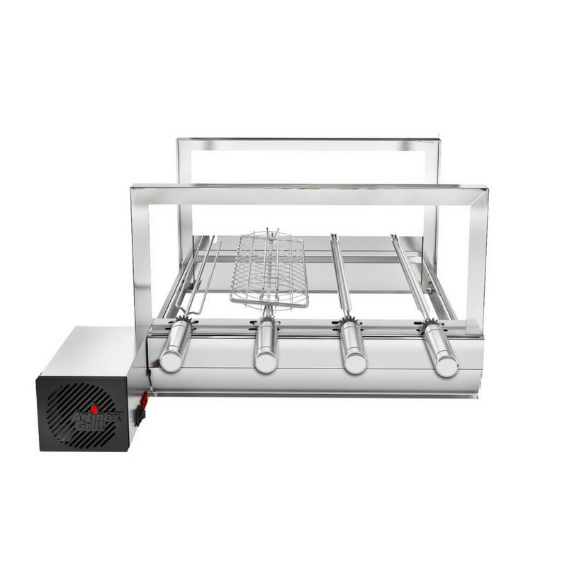 Churrasqueira Gira Grill Inox Elétrica Robust 4 Espetos Giratórios