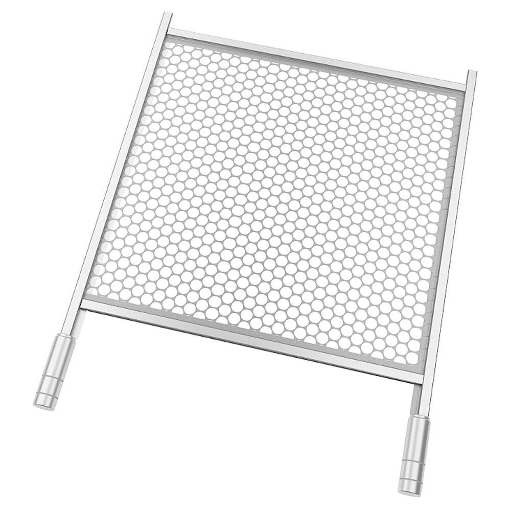 Grelha Tipo Moeda em Inox 50 x 50 cm - Compatível com Churrasqueiras de 5 Espetos