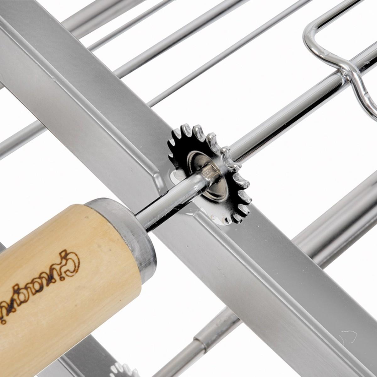 Kit Suporte de Espeto para Churrasqueira Giragrill de Inox 1004.