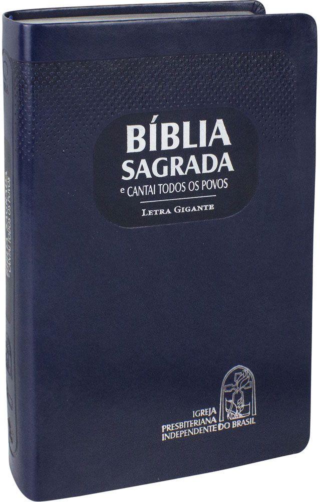 Bíblia com CTP - RA, Letra GIGANTE, Azul, Capa emborrachada