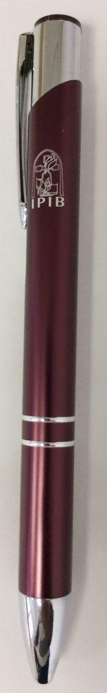 Caneta IPIB vinho c/ logo branco
