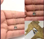 Nossa Senhora Ouro 18k Com Pedras Pequena 1.1 x 0.7cm
