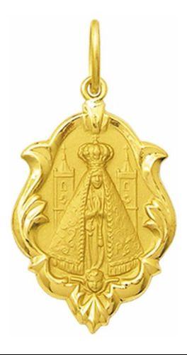 Pingente Mini Nossa Senhora Aparecida Ouro 18k  k050
