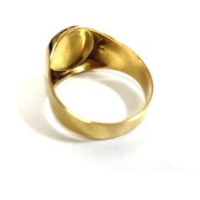 Anel Hexagrama Estrela de Davi em Ouro 18k Teor 750 Redondo Grande