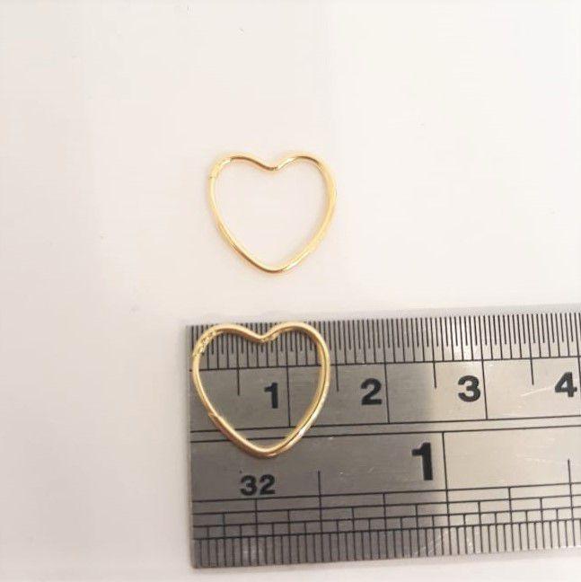 Brinco Coraçao 1.4cm Ouro 18k- k0.5
