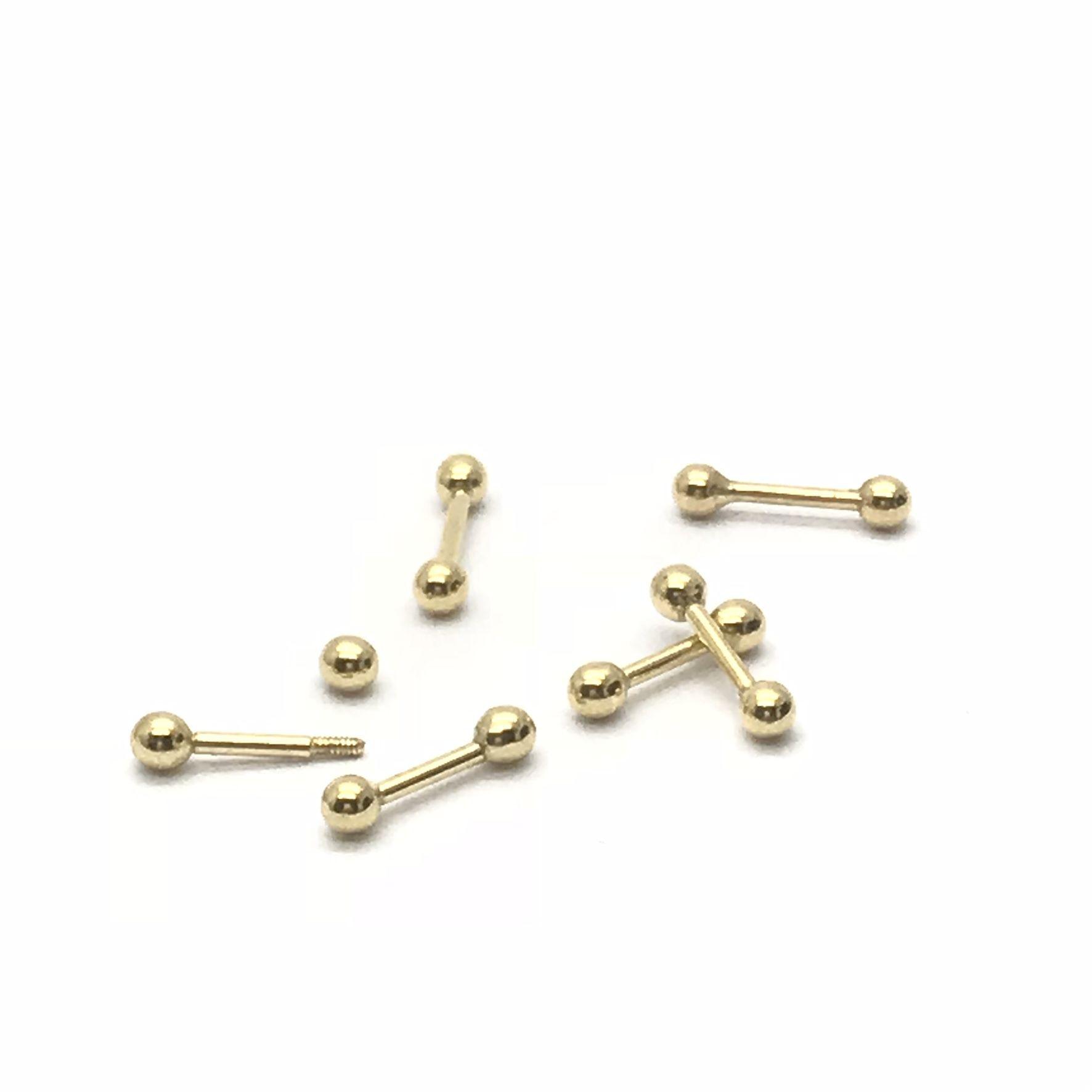 Piercing Bolinha Bolinha Classico Ouro 18k