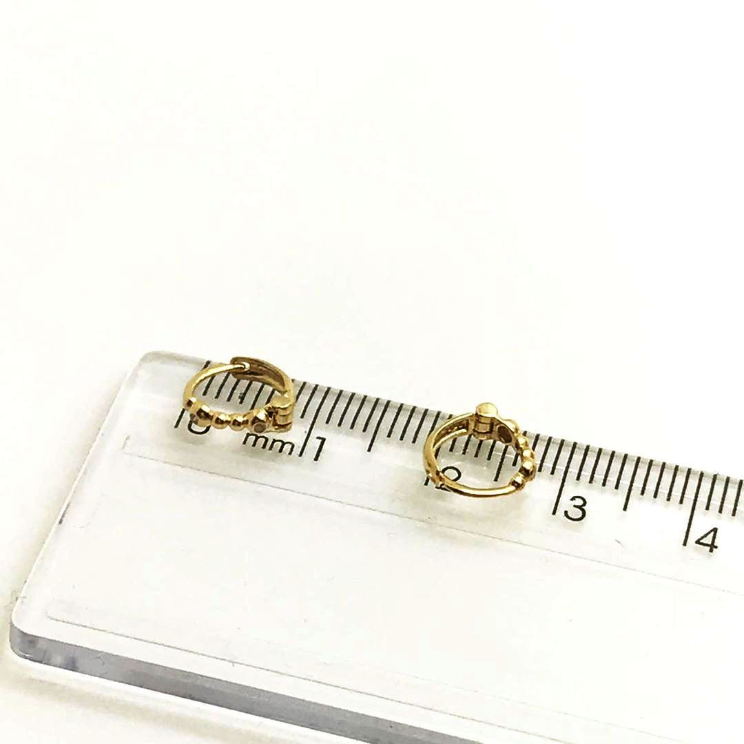 Piercing Uma Peça Ouro 18k Argola 6mm Bolinha com Diamantes B13242