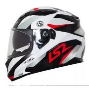 Capacete Ls2 Ff320 Stream Crown White Red