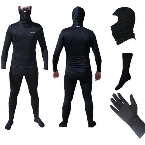 Kit  Segunda Pele Thermohead Extreme Cold ( Calça, Camisa, Meia, Balaclava e Luva) - Unissex