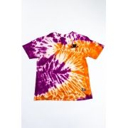 "CAMISETA GRIZZLY ""SUNSCAPE POCKET TIE DYE"" ROXA/LARANJA ESPECIAL"