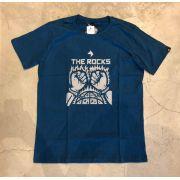 "Camiseta The Rocks ""FIST IN FLAMES"" Azul"
