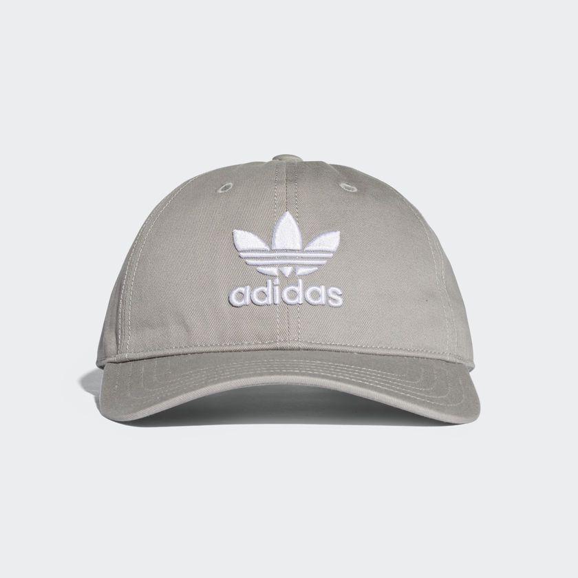 Boné Adidas Originals Trefoil Cinza
