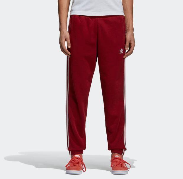 Calça Adidas 3-Stripes Vermelho