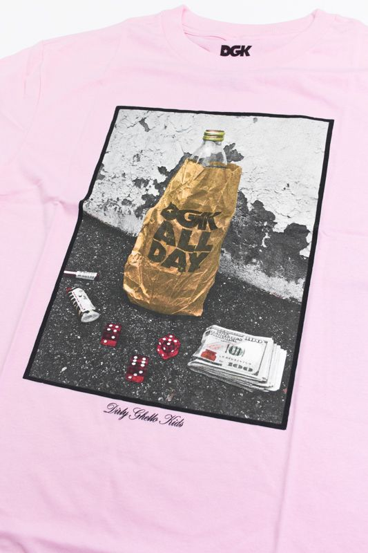 "CAMISETA DGK ""ESSENTIALS"" ROSA"