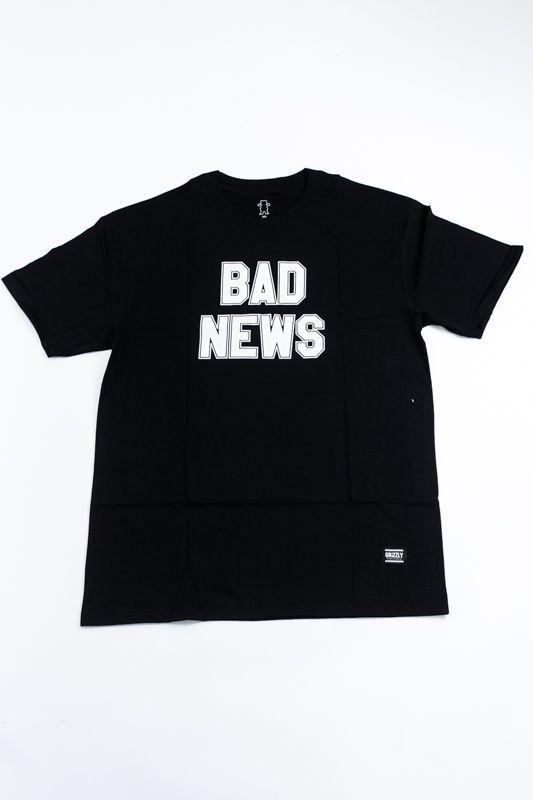 "CAMISETA GRIZZLY ""BAD NEWS 2"" PRETA"