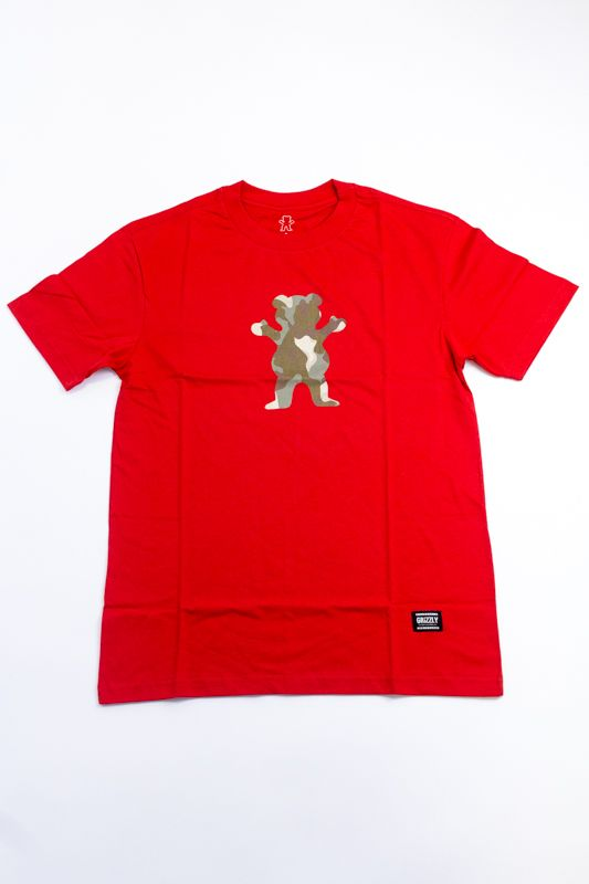"CAMISETA GRIZZLY ""KAYAK OG BEAR"" VERMELHA"