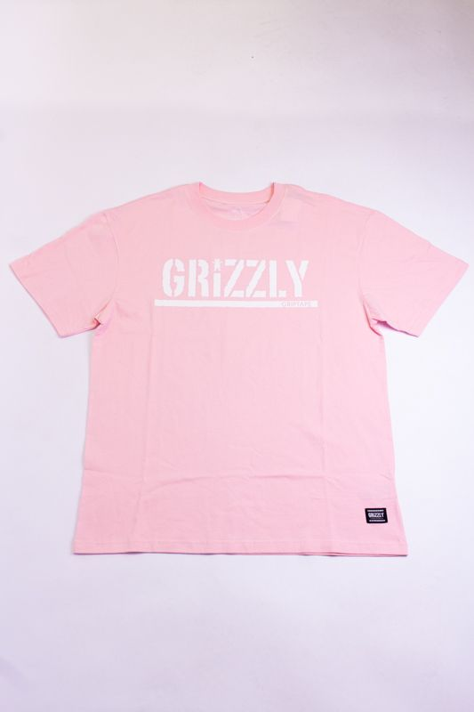 "CAMISETA GRIZZLY ""OG STAMP LOGO"" ROSA"