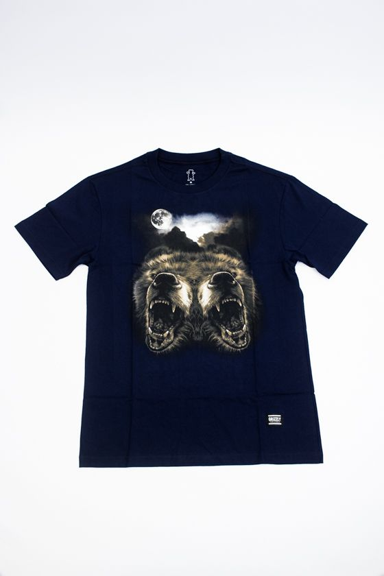 "CAMISETA GRIZZLY ""ROAR AT THE MOON"" AZUL"