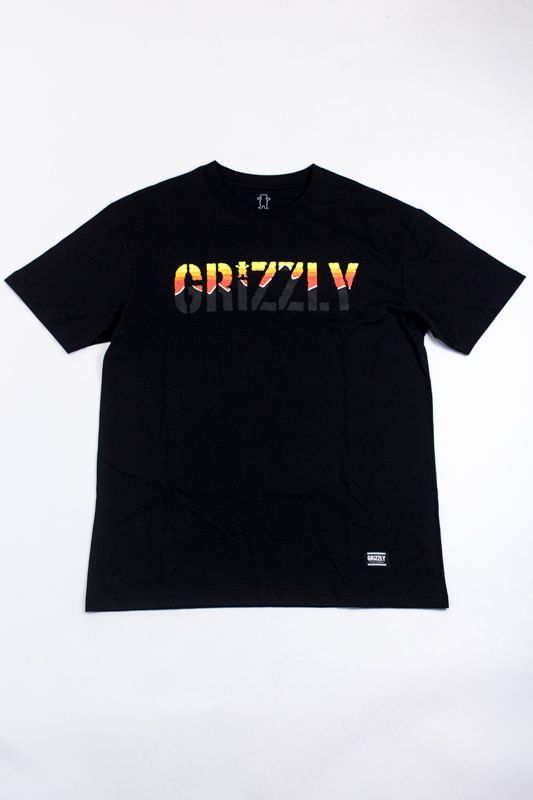 "CAMISETA GRIZZLY ""STAMP DOWN"" PRETA"