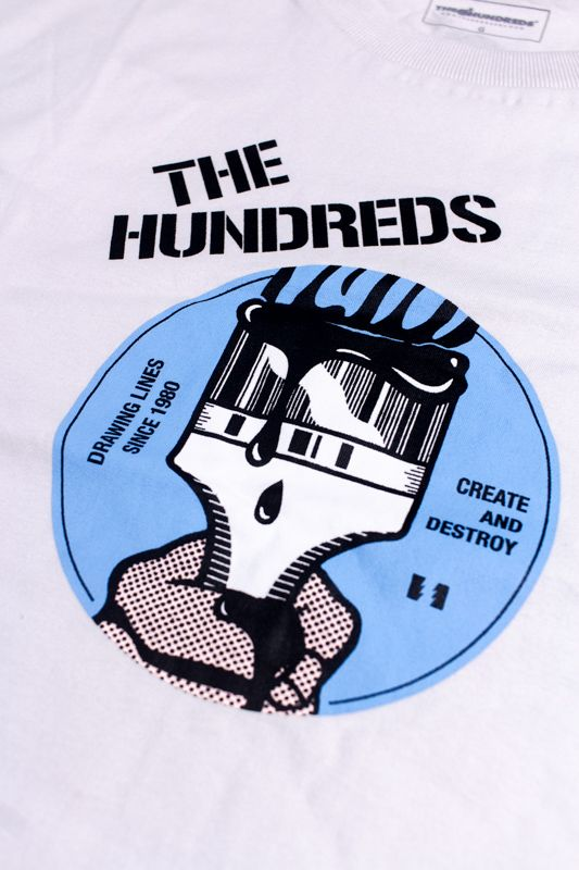 "CAMISETA THE HUNDREDS ""BLACK LINE"" CREME"