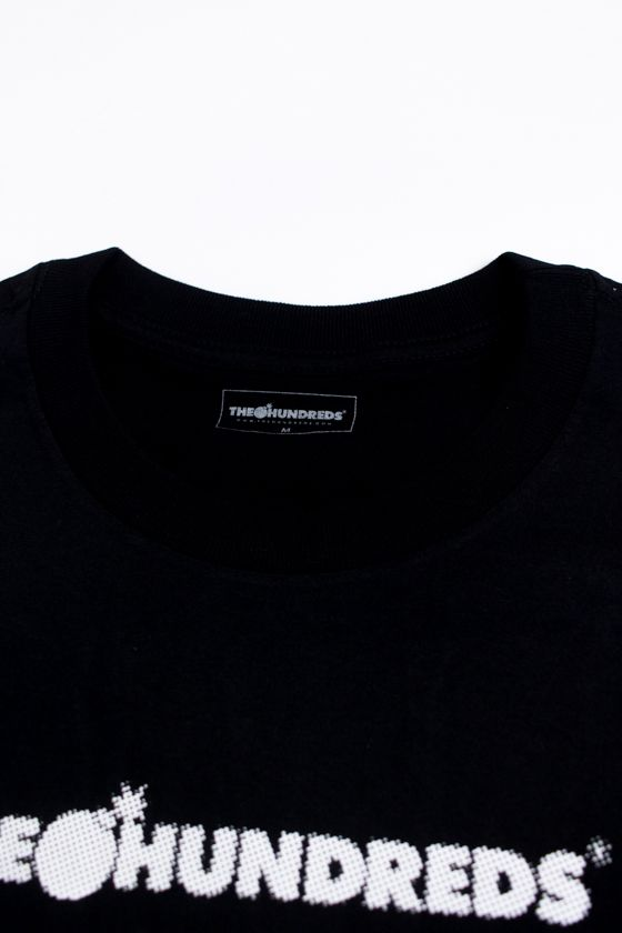 "CAMISETA THE HUNDREDS ""LOGO HALFTONE"" PRETA"