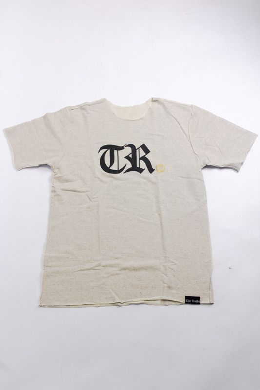 "CAMISETA THE ROCKS CORTE A FIO ""TR"" CREME"