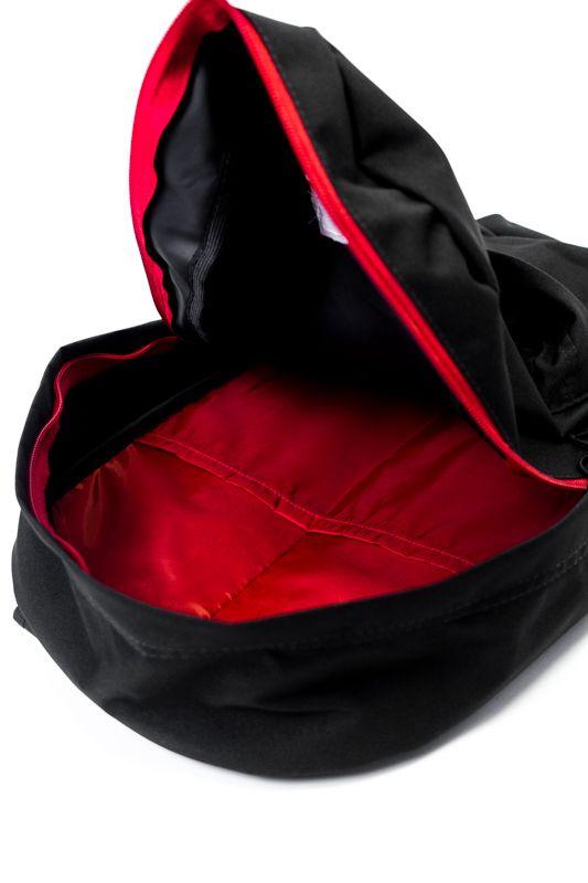 """MOCHILA OVERCOME CO """"LOGO BLACK/RED"""""""