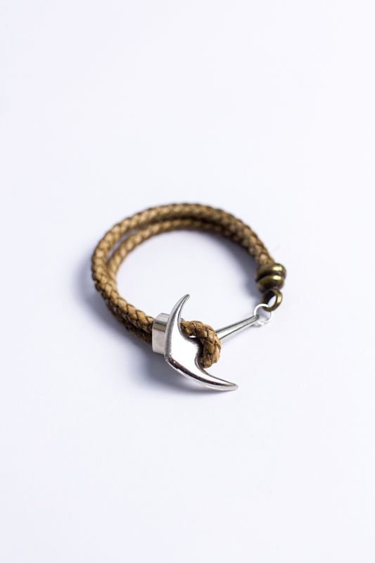 "PULSEIRA CARDIN DESIGN ""BROWN ANCHOR LEATHER"""