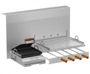 Churrasqueira Rotativa Linha Gourmet com bifeira lateral a gás - Design Steel