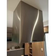 Coifa ilha Box Retangular Pintada - Design Steel
