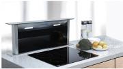Coifa ilha embutida Inox e Vidro Touch 90cm - Design Steel