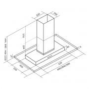Coifa ilha inox/vidro modelo Brisa 90cm - Arix