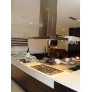 Coifa Ilha Reta Slim Inox  90cm - Art & Design Premium