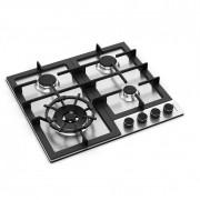 Cooktop Zurique Aço Inox 60cm a Gás 4 queimadores - DeBacco
