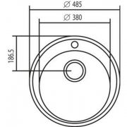 Cuba simples redonda inox 430  48 cm - Tramontina