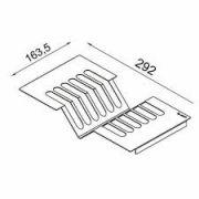 Escorredor de Pratos inox 6 unidades 300 mm - DeBacco