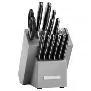 Jogo de Facas Kitchenaid Forged Cutlery 14 Peças com Afiador - Preto