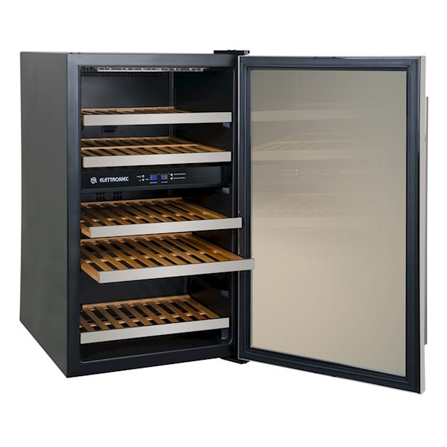 Adega Climatizada Elettromec Porta Inox Dual Zone 34 Garrafas Controle Eletrônico Compressor