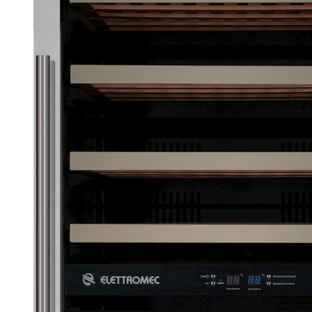Adega Climatizada Elettromec Porta Inox Dual Zone 84 Garrafas Controle Eletrônico Compressor - 220v