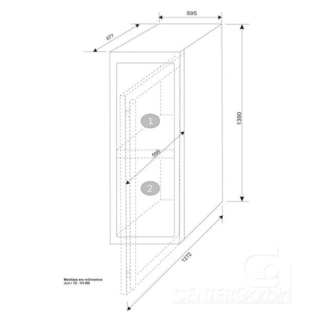 Adega Climatizada Elettromec Porta Inox Dual Zone Built-in 110 Garrafas Controle Eletrônico Compressor - 220v
