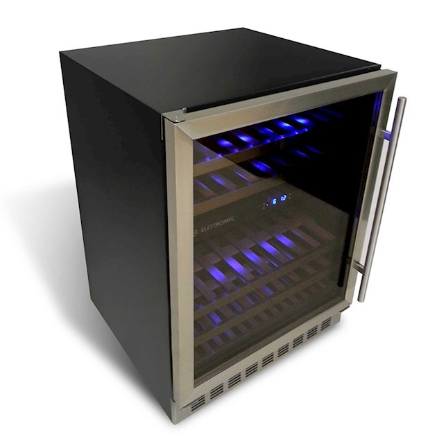 Adega Climatizada Elettromec Porta Inox Dual Zone Built-in 45 Garrafas Controle Eletrônico Compressor