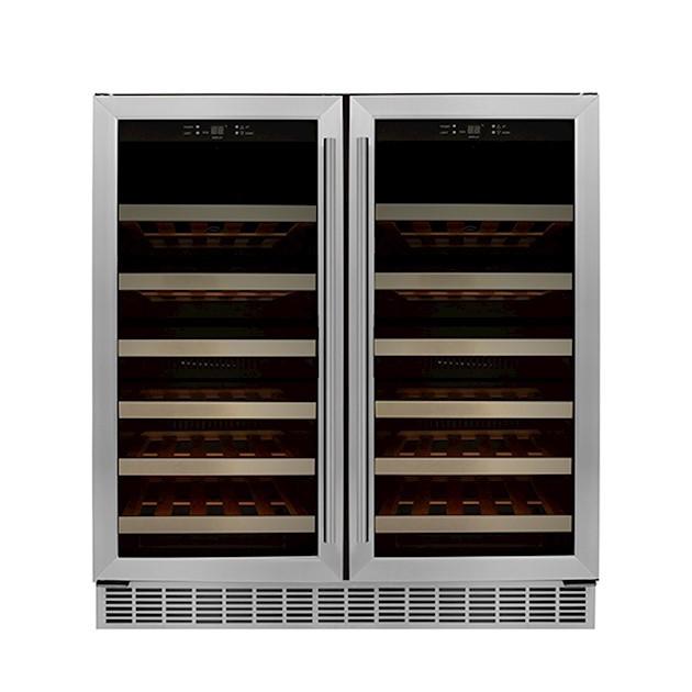 Adega Climatizada Elettromec Porta Inox Dual Zone Built-in 56 Garrafas Controle Eletrônico Compressor - 220v