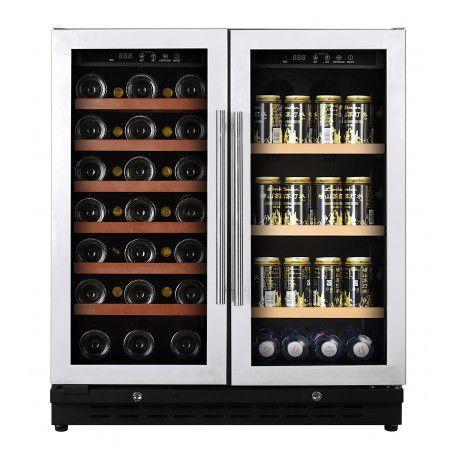 Adega e frigobar Climatizada Porta Inox 66 Garrafas Controle Eletrônico - CookerHood