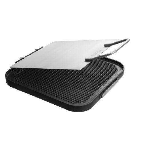 Chapa bistequeira em aluminio com teflon 30cm para cooktop - Felesa