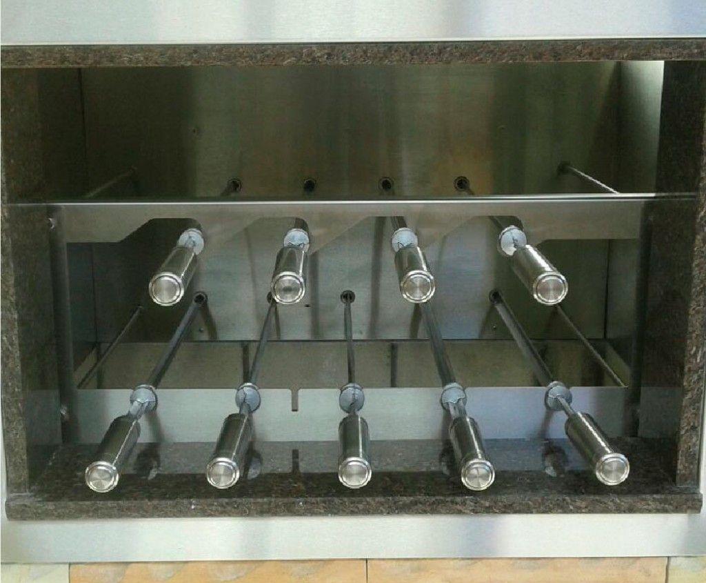 Churrasqueira Rotativa inox a Carvão Linha Gourmet  - Design Steel