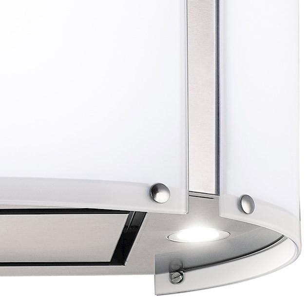 Coifa ilha  Arcobaleno Inox e Vidro Branco Touch 70cm - Elettromec