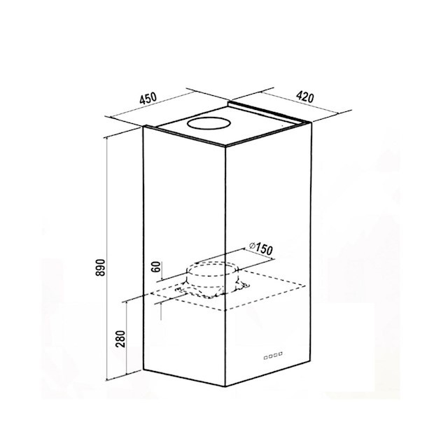 Coifa Ilha Proteus Inox 35cm -  Elettromec