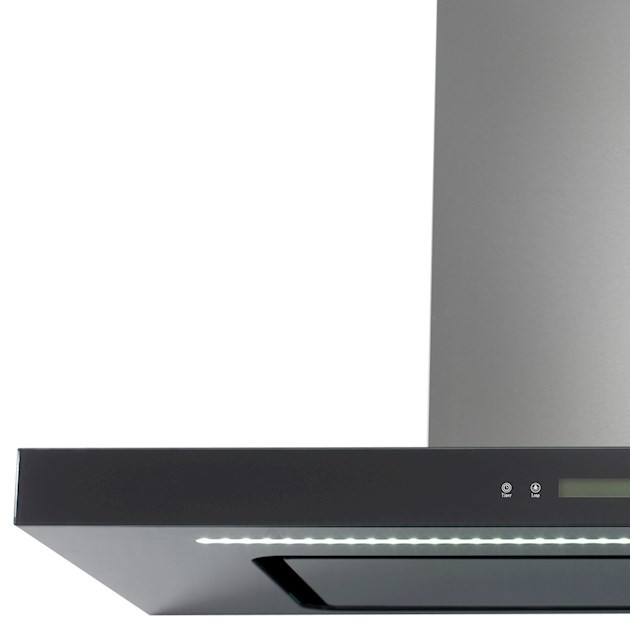 Coifa Parede Vetro  Inox e Vidro 90cm - 220V  - Elettromec